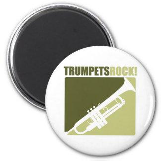 Roca de las trompetas imán redondo 5 cm