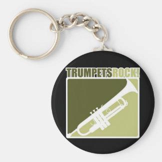 Roca de las trompetas llavero redondo tipo pin