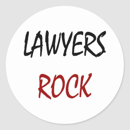 Roca de los abogados pegatina redonda
