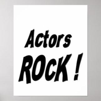 ¡Roca de los actores Impresión del poster