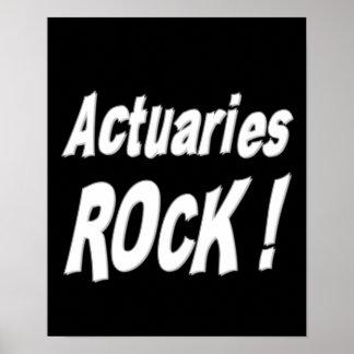 ¡Roca de los actuarios Impresión del poster