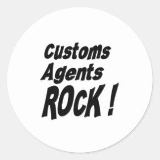 ¡Roca de los agentes de aduanas! Pegatina