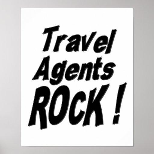 ¡Roca de los agentes de viajes! Impresión del post Póster