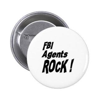 ¡Roca de los agentes del FBI! Botón Pin Redondo De 2 Pulgadas