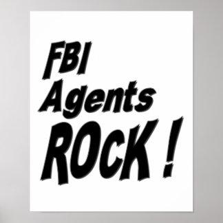 ¡Roca de los agentes del FBI Impresión del poster