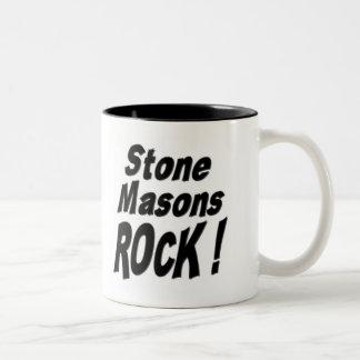 ¡Roca de los albañiles de piedra! Taza