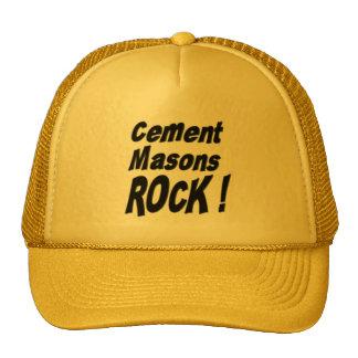 ¡Roca de los albañiles del cemento! Gorra