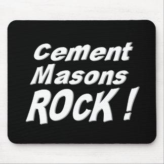 ¡Roca de los albañiles del cemento! Mousepad Alfombrilla De Ratón