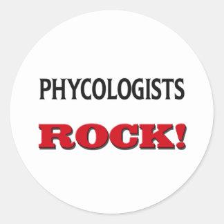 Roca de los algólogos pegatinas redondas