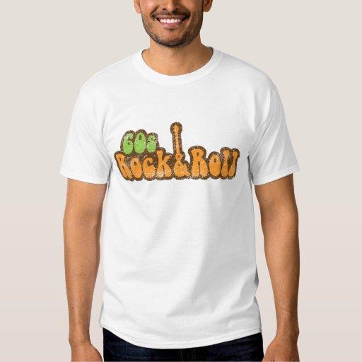 roca de los años 60 y camiseta del rollo poleras