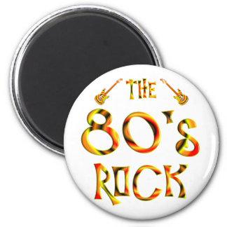 roca de los años 80 imán redondo 5 cm