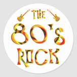 roca de los años 80 pegatina redonda
