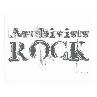 Roca de los archivistas postal