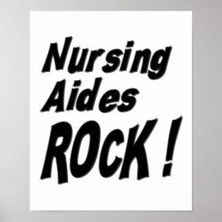 ¡Roca de los asistentes de oficio de enfermera! Im Póster