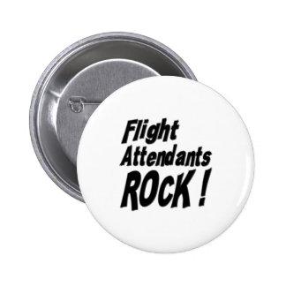 ¡Roca de los asistentes de vuelo! Botón Pin Redondo De 2 Pulgadas