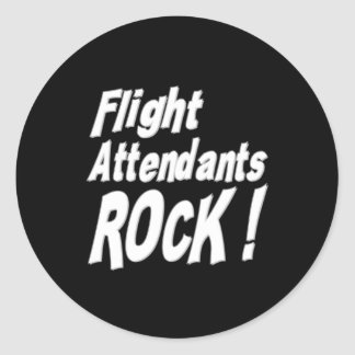 ¡Roca de los asistentes de vuelo! Pegatina