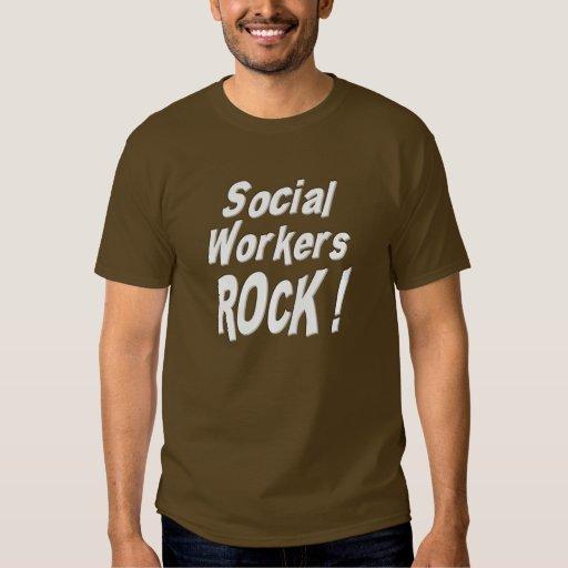 ¡Roca de los asistentes sociales! Camiseta Playera