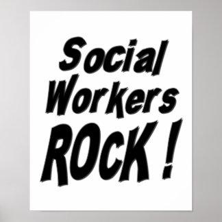 ¡Roca de los asistentes sociales Impresión del po