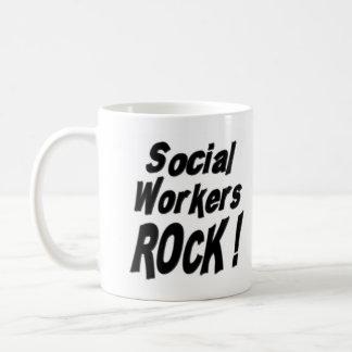 ¡Roca de los asistentes sociales! Taza