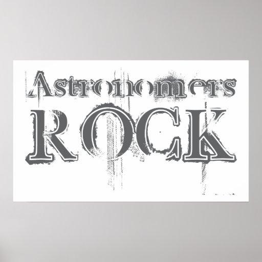 Roca de los astrónomos póster