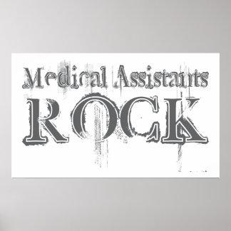Roca de los auxiliares médicos póster