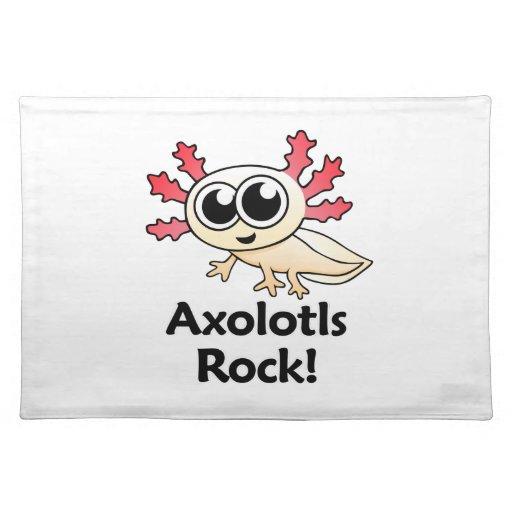 ¡Roca de los Axolotls! Mantel Individual