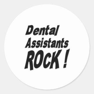 ¡Roca de los ayudantes de dentista! Pegatina