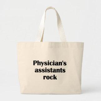 Roca de los ayudantes del médico bolsa tela grande