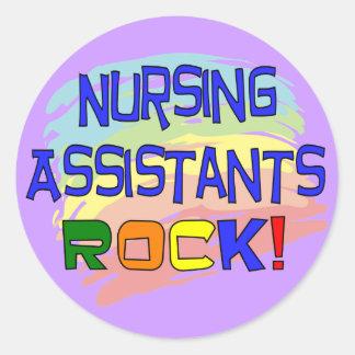 ROCA de los ayudantes del oficio de enfermera Pegatina Redonda
