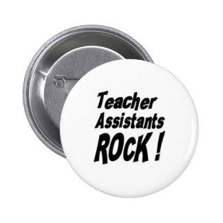 ¡Roca de los ayudantes del profesor! Botón Pin Redondo De 2 Pulgadas
