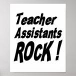 ¡Roca de los ayudantes del profesor! Impresión del Posters