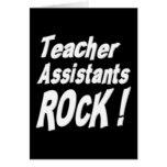 ¡Roca de los ayudantes del profesor! Tarjeta de fe