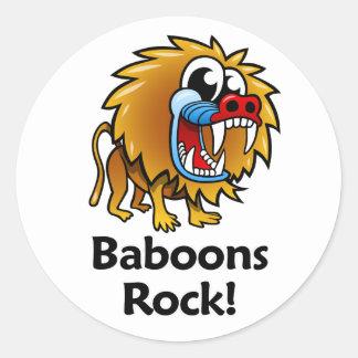 ¡Roca de los babuinos! Pegatina Redonda