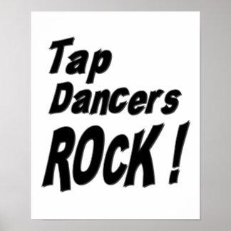 ¡Roca de los bailarines de golpecito Impresión de