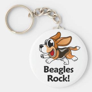 ¡Roca de los beagles! Llavero Redondo Tipo Pin