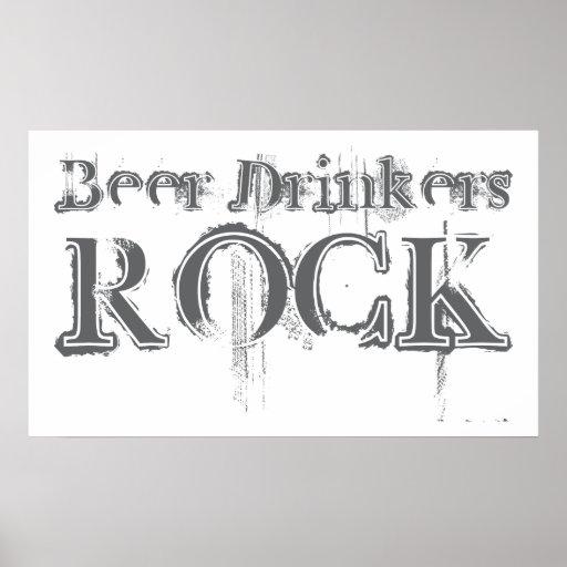 Roca de los bebedores de cerveza impresiones