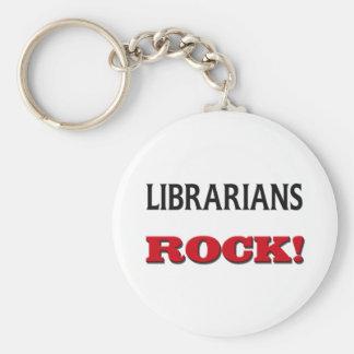 Roca de los bibliotecarios llavero redondo tipo pin