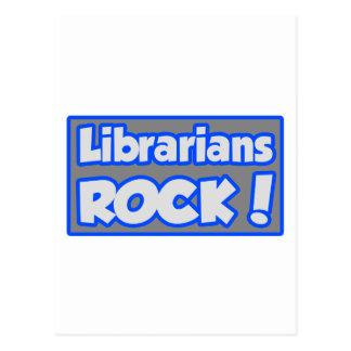¡Roca de los bibliotecarios! Postal