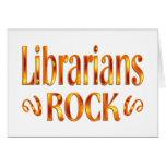Roca de los bibliotecarios tarjetas