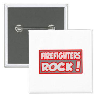 ¡Roca de los bomberos! Pin Cuadrado