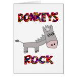 Roca de los burros tarjeta