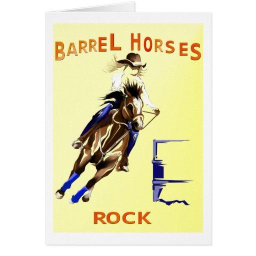 Roca de los caballos del barril felicitaciones