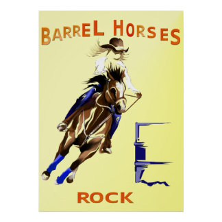 Roca de los caballos del barril póster