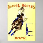 Roca de los caballos del barril posters