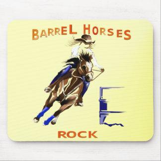 Roca de los caballos del barril alfombrillas de ratones
