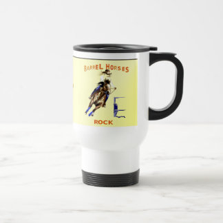 Roca de los caballos del barril tazas de café
