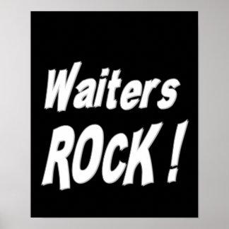 ¡Roca de los camareros Impresión del poster