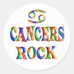 Roca de los cánceres etiqueta redonda