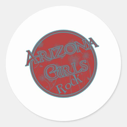 Roca de los chicas de Arizona Pegatinas Redondas