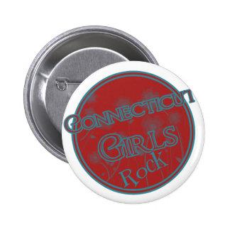 ¡Roca de los chicas de Connecticut! Pin Redondo De 2 Pulgadas